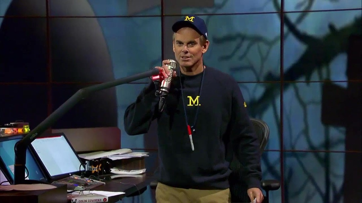 """WATCH: Colin Cowherd """"Michigan is the only team that matches up withAlabama"""""""